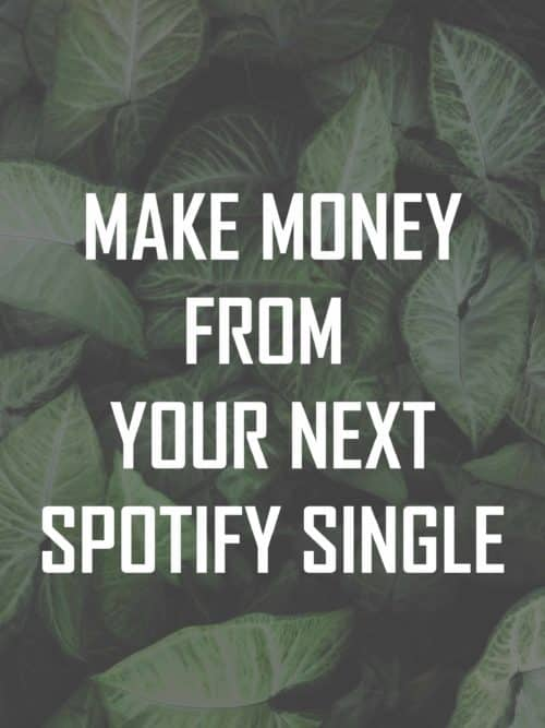 Make money from spotify