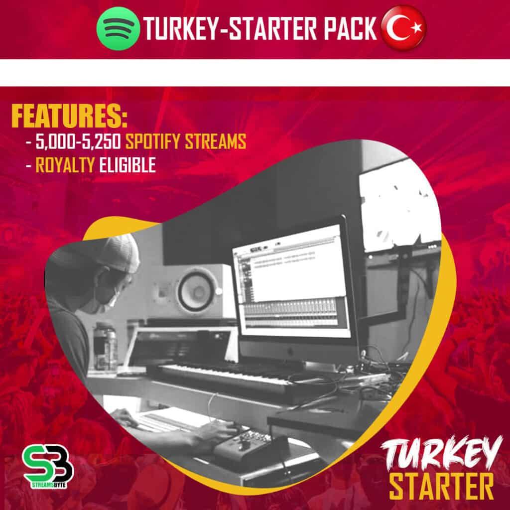 TURKEY Starter- Buy TURKEY spotify streams