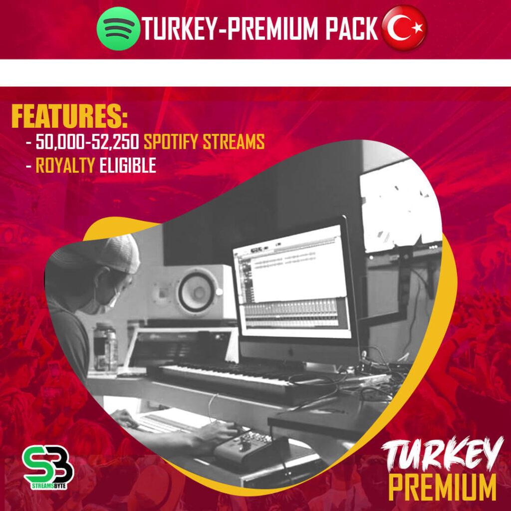 TURKEY Premium- Buy TURKEY spotify streams