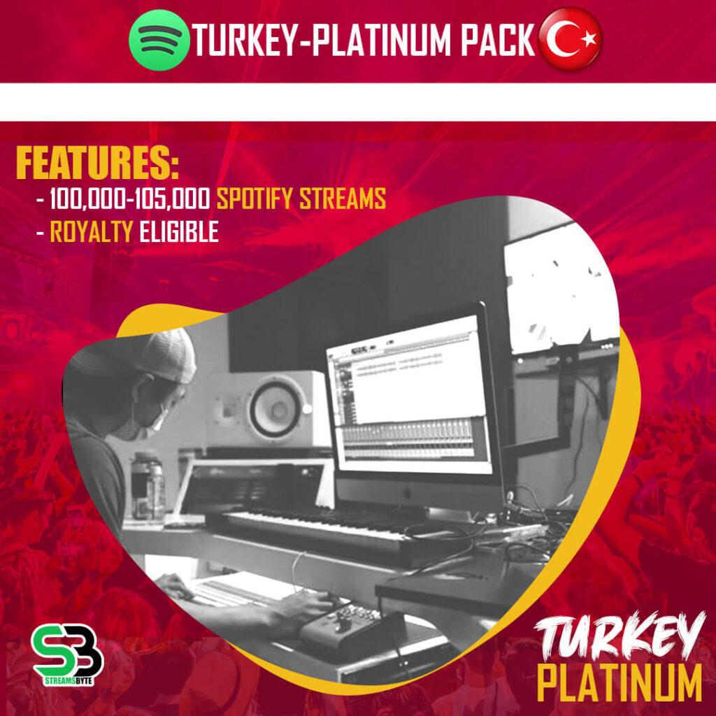 TURKEY Platinum- Buy TURKEY spotify streams