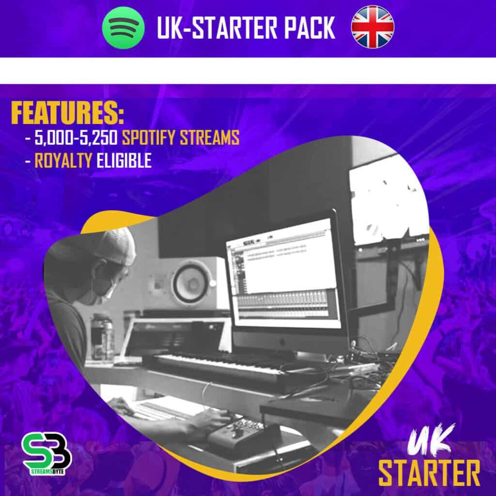 UK STARTER- Buy UK spotify streams