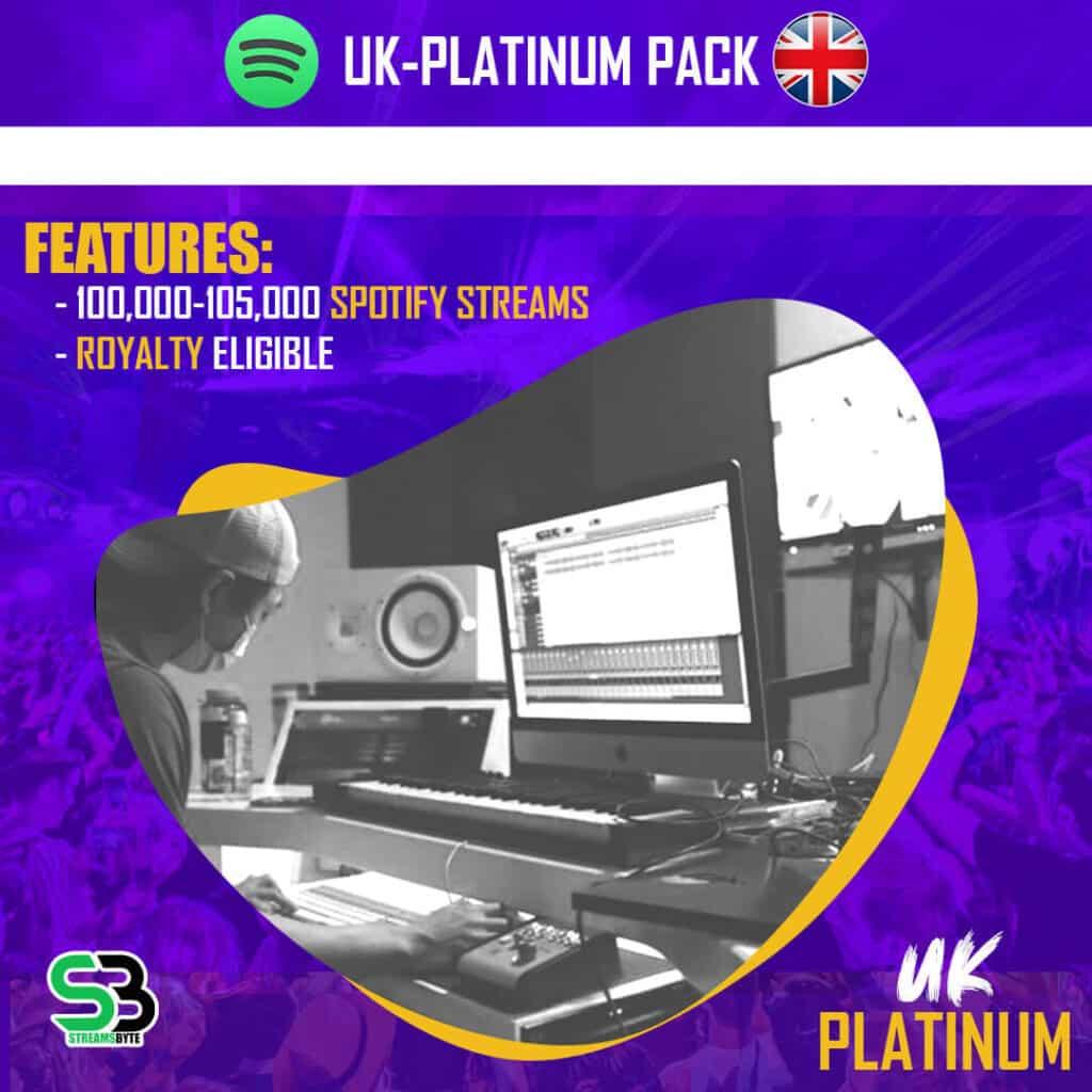 UK PLATINUM- Buy UK spotify streams