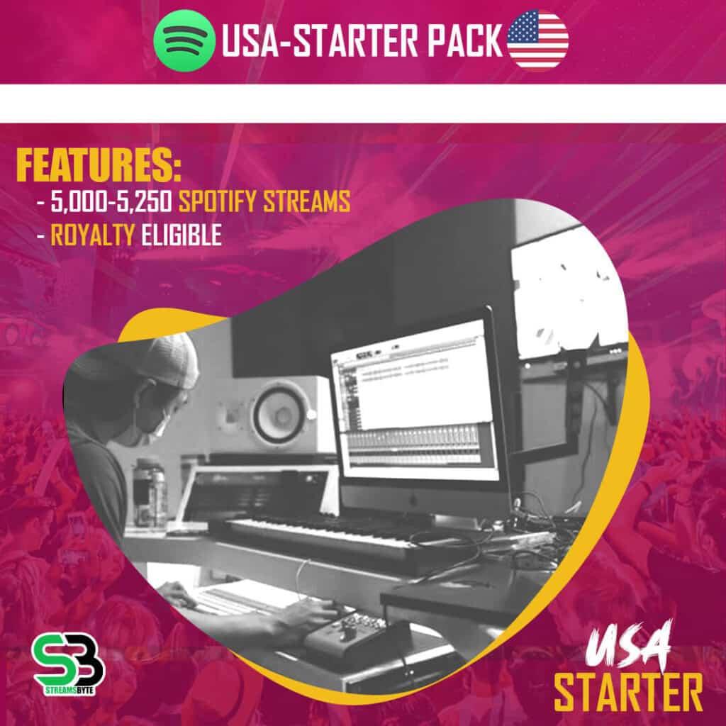 USA STARTER- Buy USA spotify streams