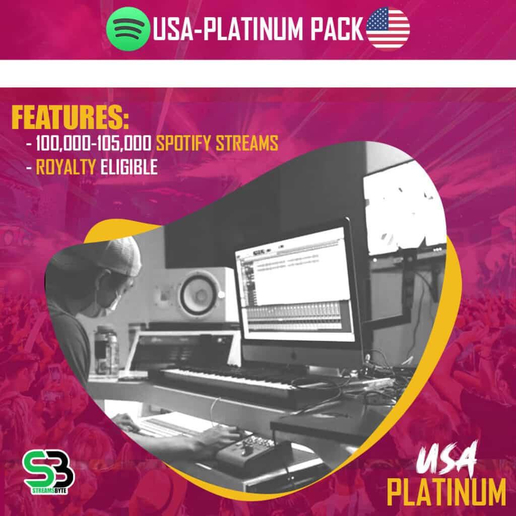 USA PLATINUM- Buy USA spotify streams