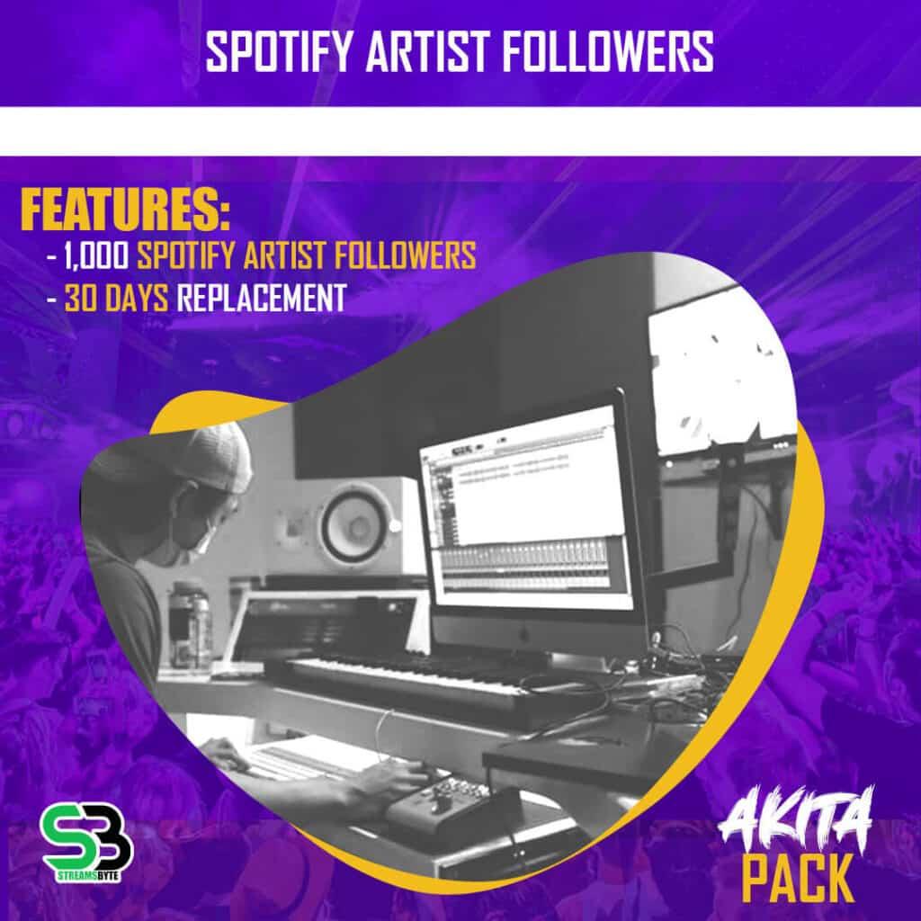 Akita Pack- Buy spotify artist followers