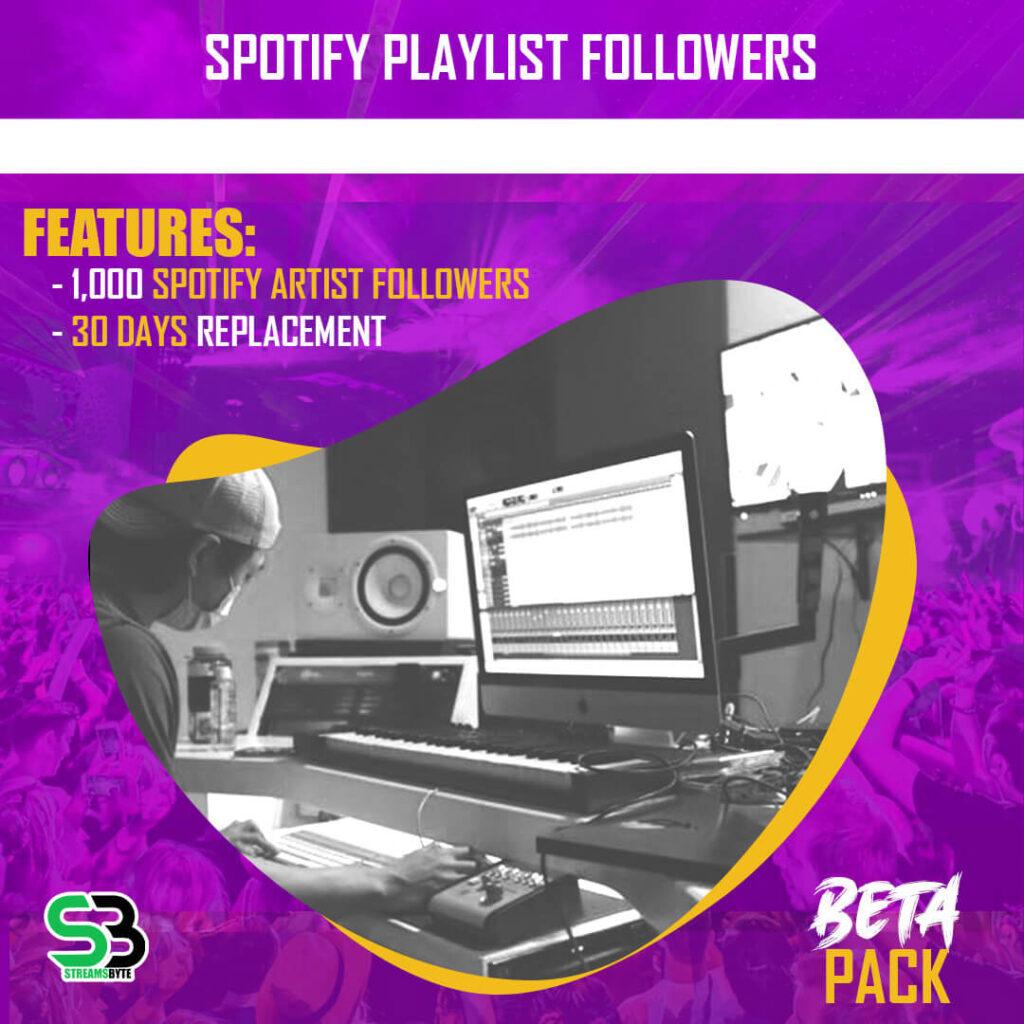 BETA Pack- Buy spotify playlist followers
