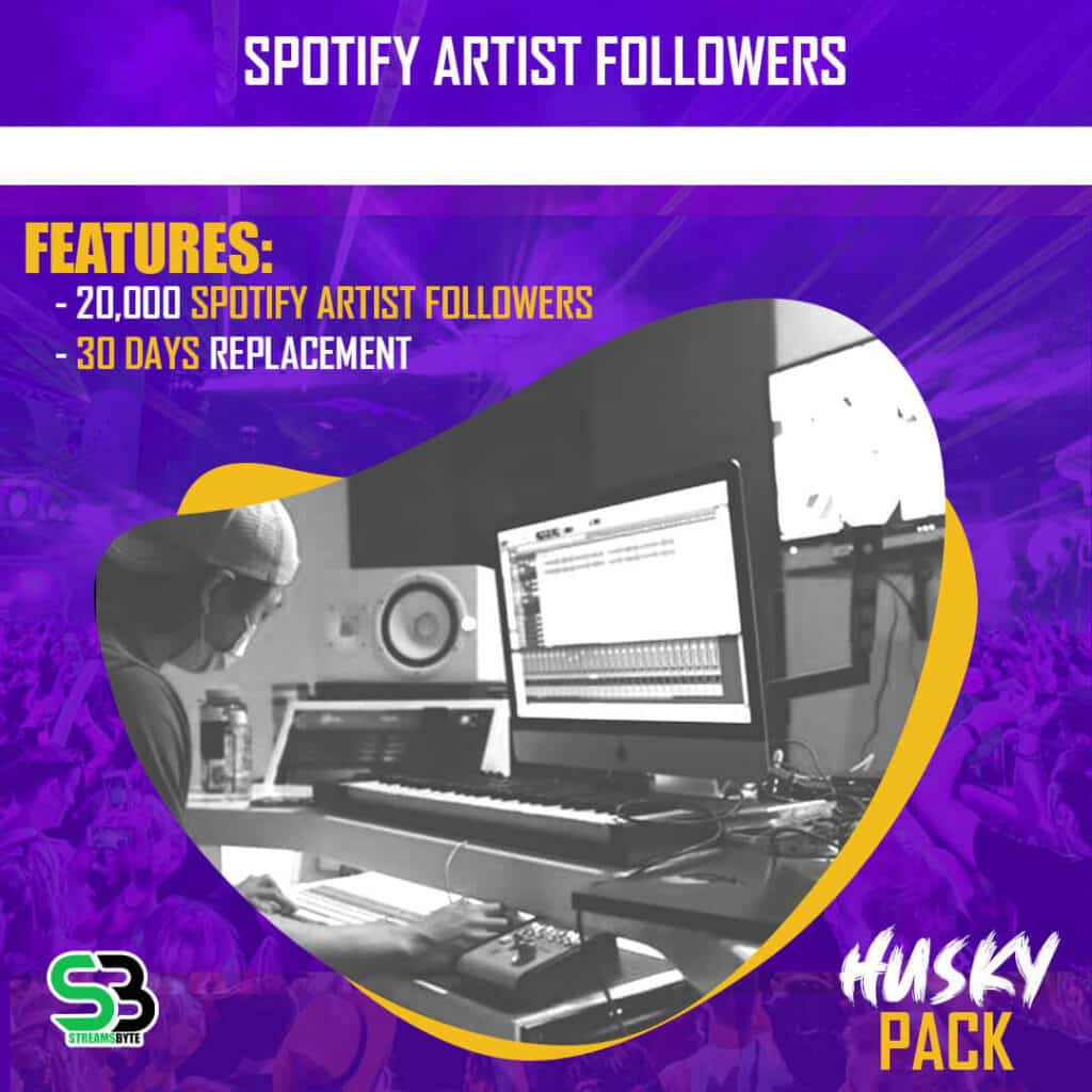 HUSKY Pack- Buy spotify artist followers